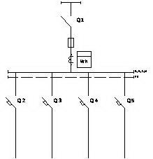 Счетчик электрической энергии обозначение на схемах